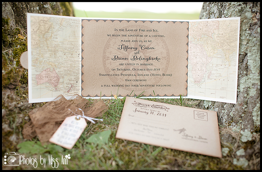 Creative Destination Wedding Invitations for Iceland Weddings Part