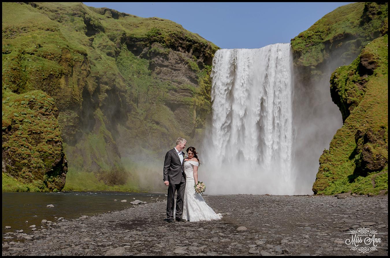 skogafoss waterfall wedding photos iceland wedding photographer