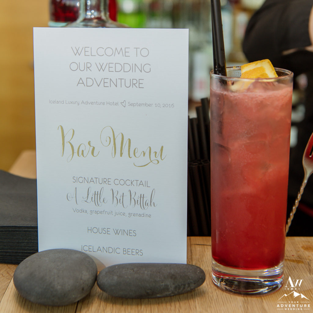 Wedding signature drink ideas archives iceland wedding planner during your iceland wedding reception its nice to have some personal touches for your guests to marvel over one of my favorites that is a simple junglespirit Gallery