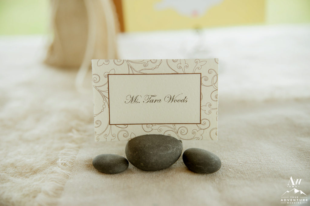 basalt rock place card holders place cards not included