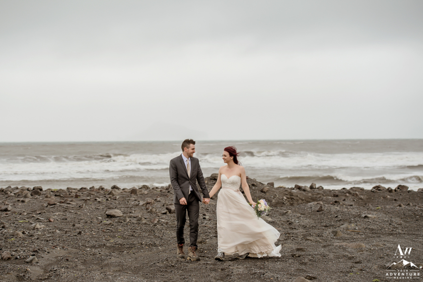 Iceland Black Sand Beach Wedding Photos-58