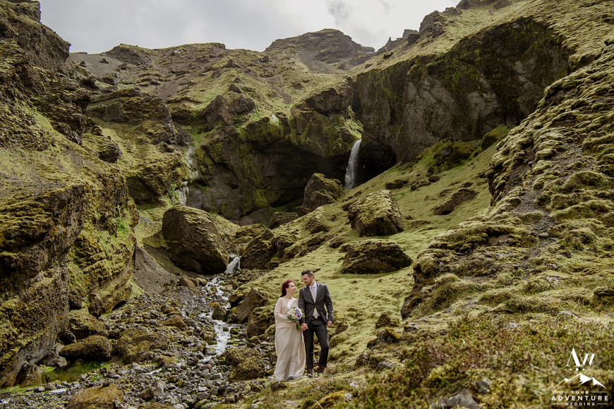 Iceland Secret Waterfall Elopement