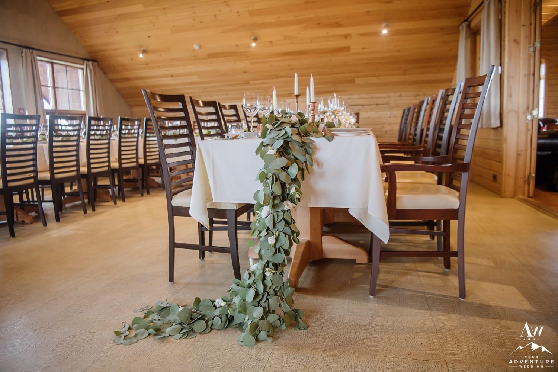 Hotel Ranga Iceland Wedding Reception Details