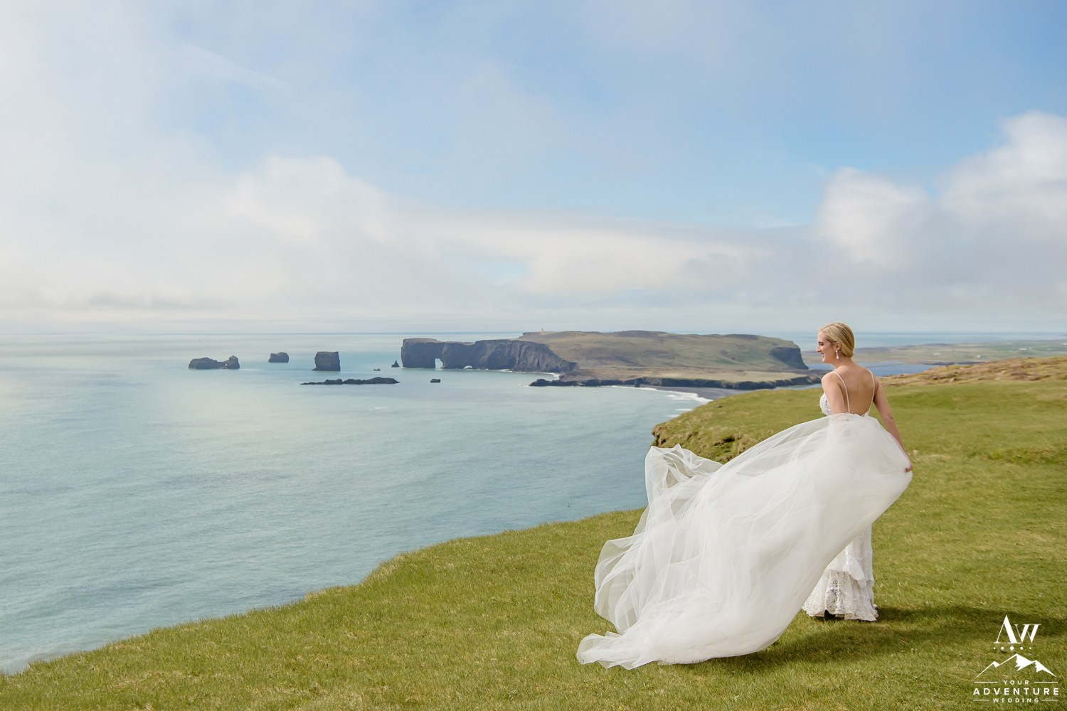 Iceland Wedding Dress Photos