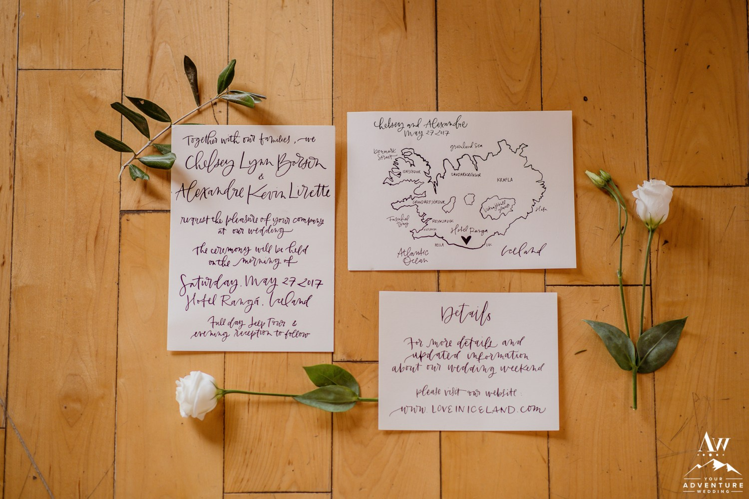 Iceland Wedding Invitation