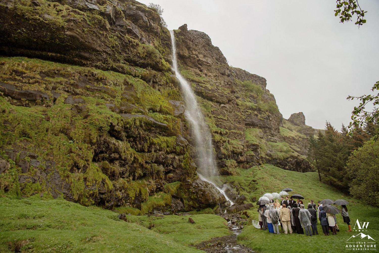 Secret Waterfall Wedding in Iceland