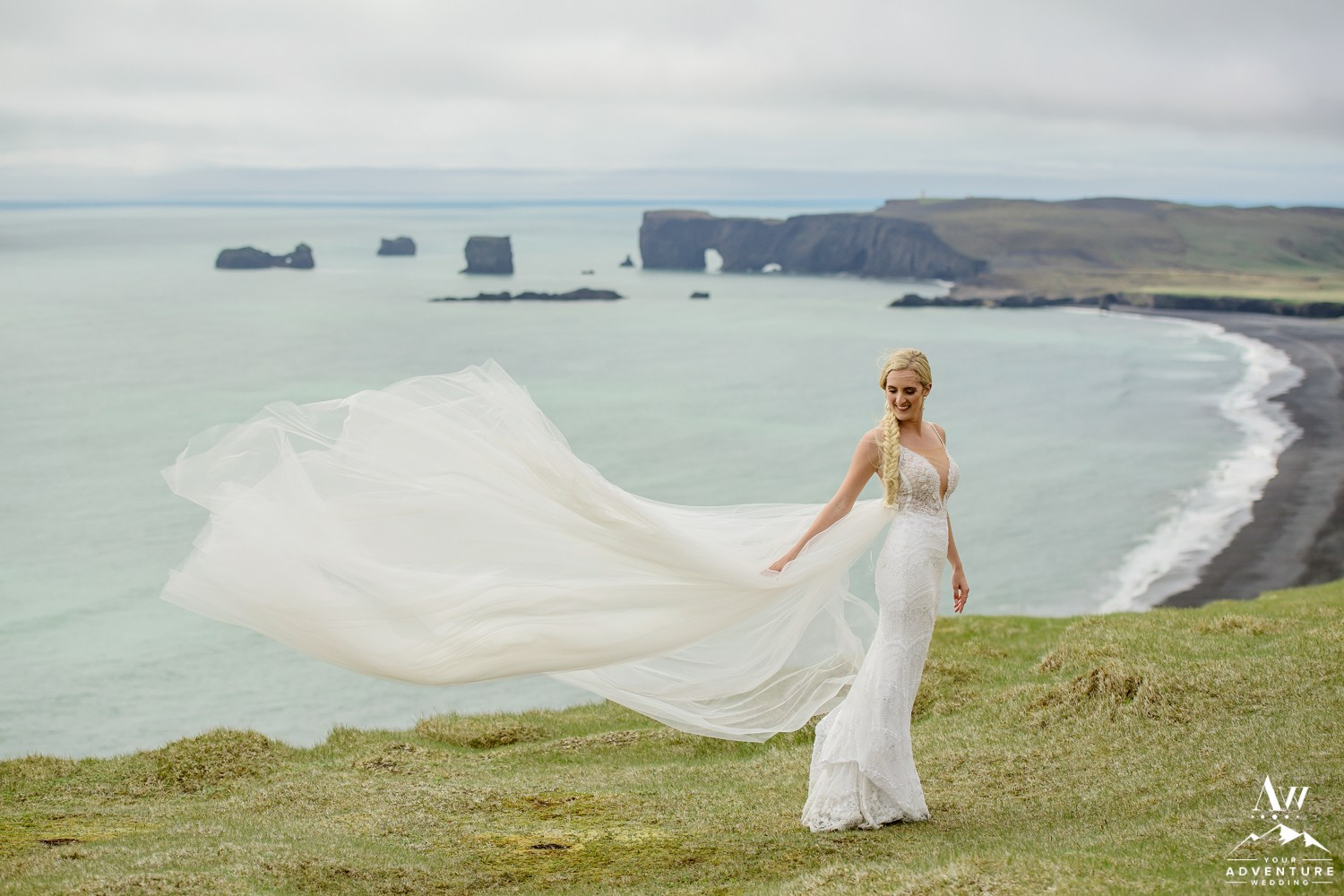Windy Wedding in Iceland