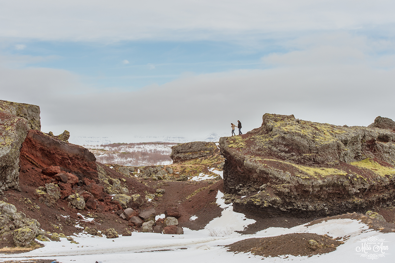 Iceland Wedding Locations Red Cliffs Heidmork - Photos by Miss Ann