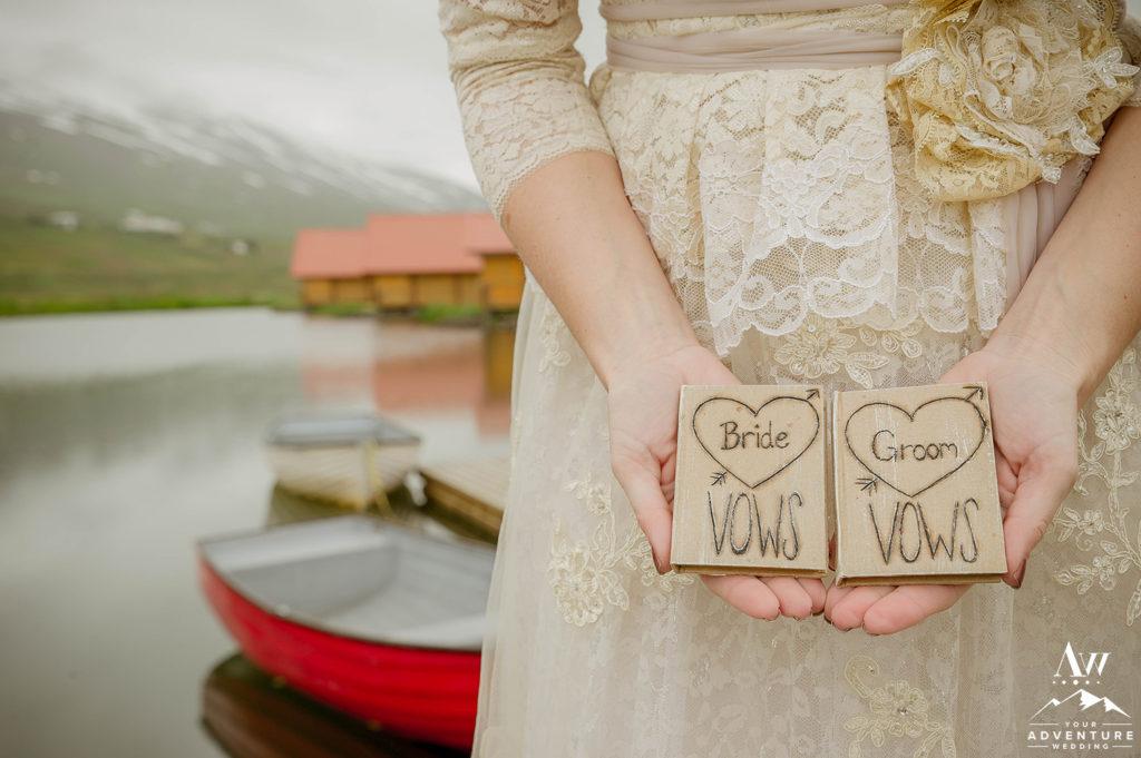 Iceland Wedding Vow Books