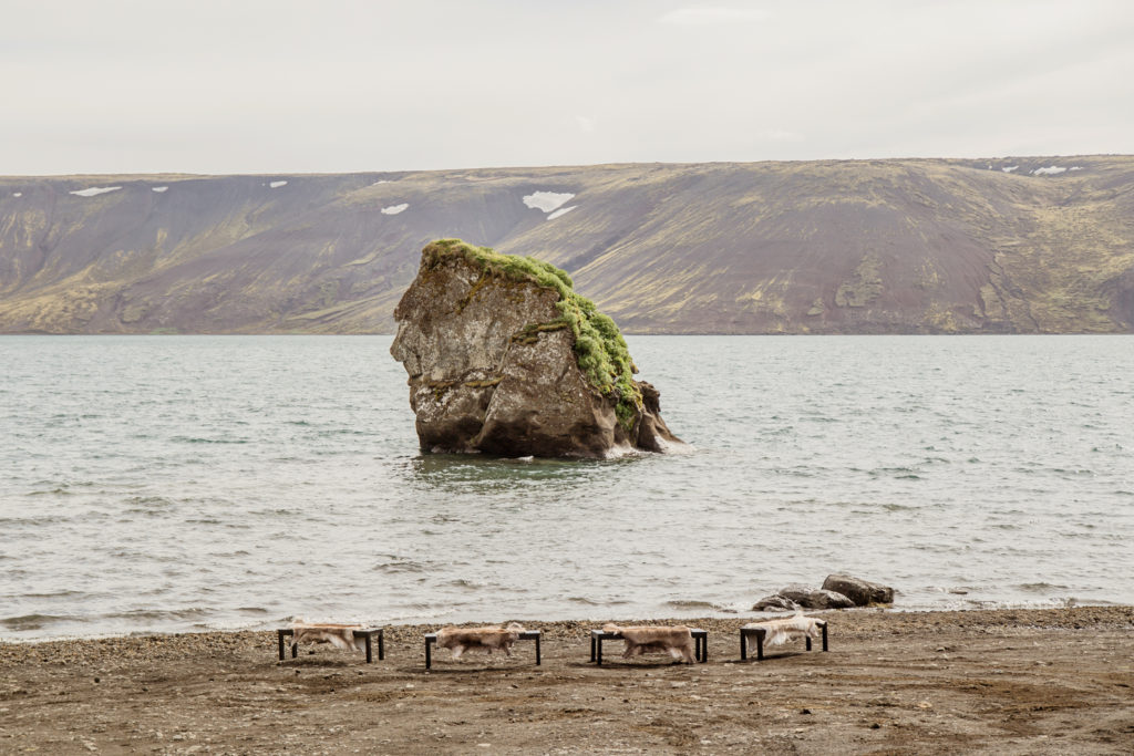 Iceland Wedding Chairs on a Beach