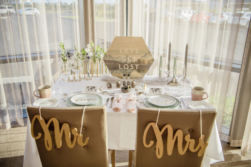 Styled table for an Iceland Elopement with the theme Let's Get Lost