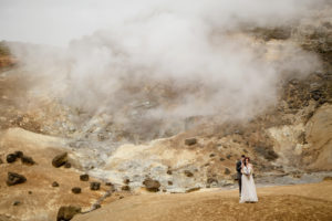 Romantic Iceland wedding photos that are literally steamy