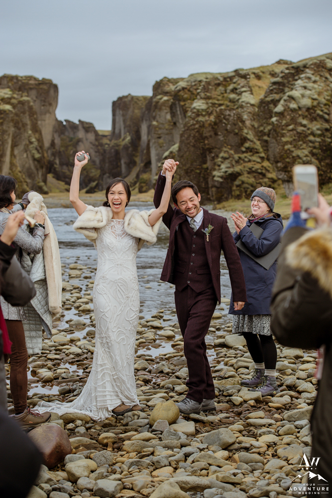 Iceland Canyon Wedding Ceremony