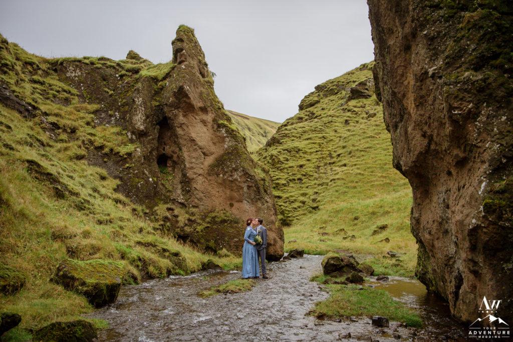 Iceland Canyon Wedding Location
