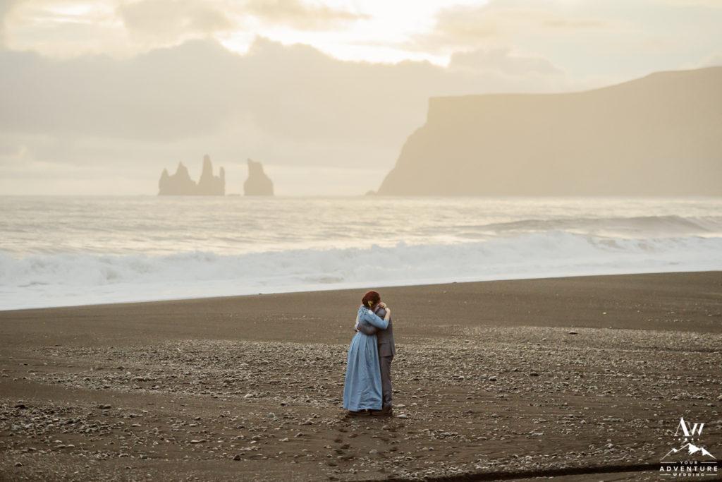 Sunset photos Iceland Wedding