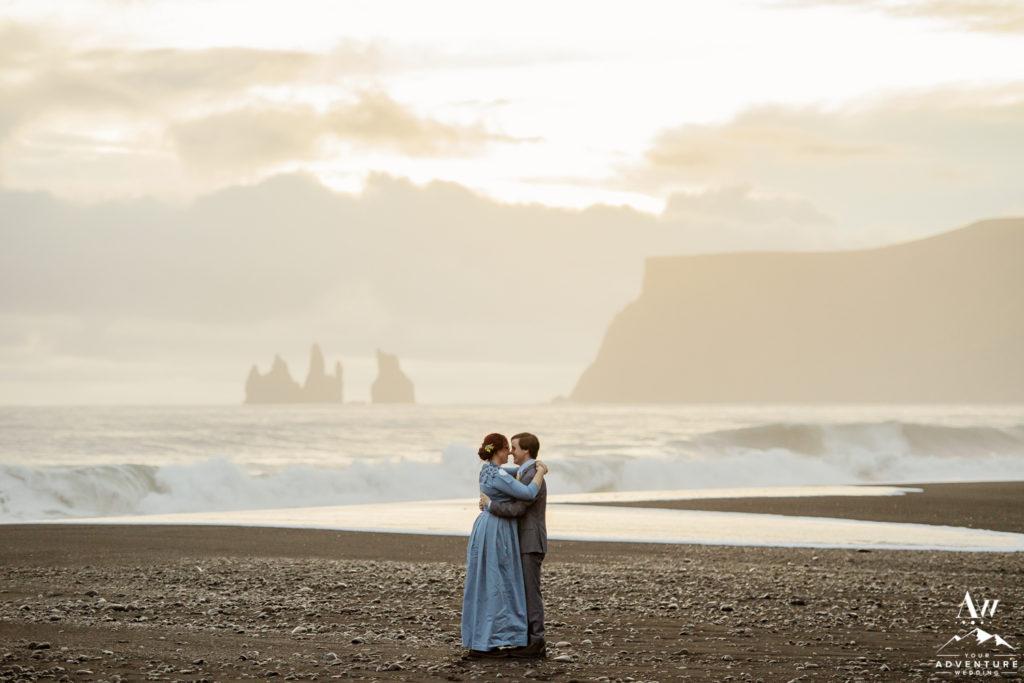 Iceland sunset wedding