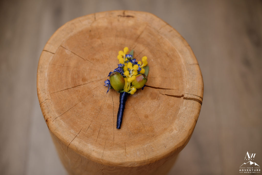 Iceland Groom Buttonhole