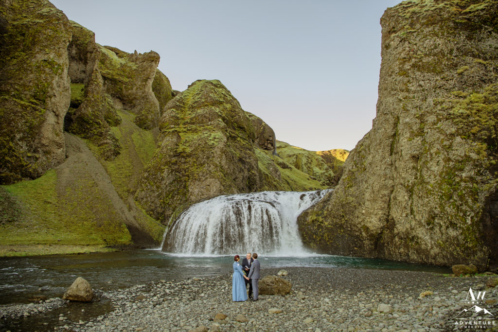 Wedding Ceremony at a Secret Waterfall