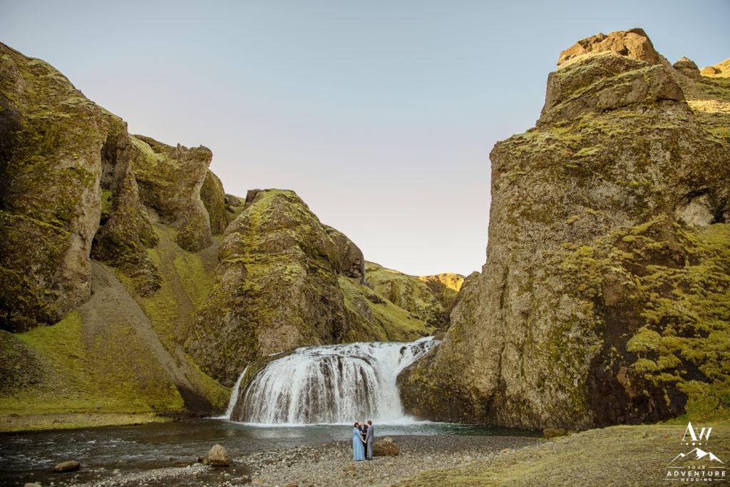Secret Waterfall Elopement Iceland
