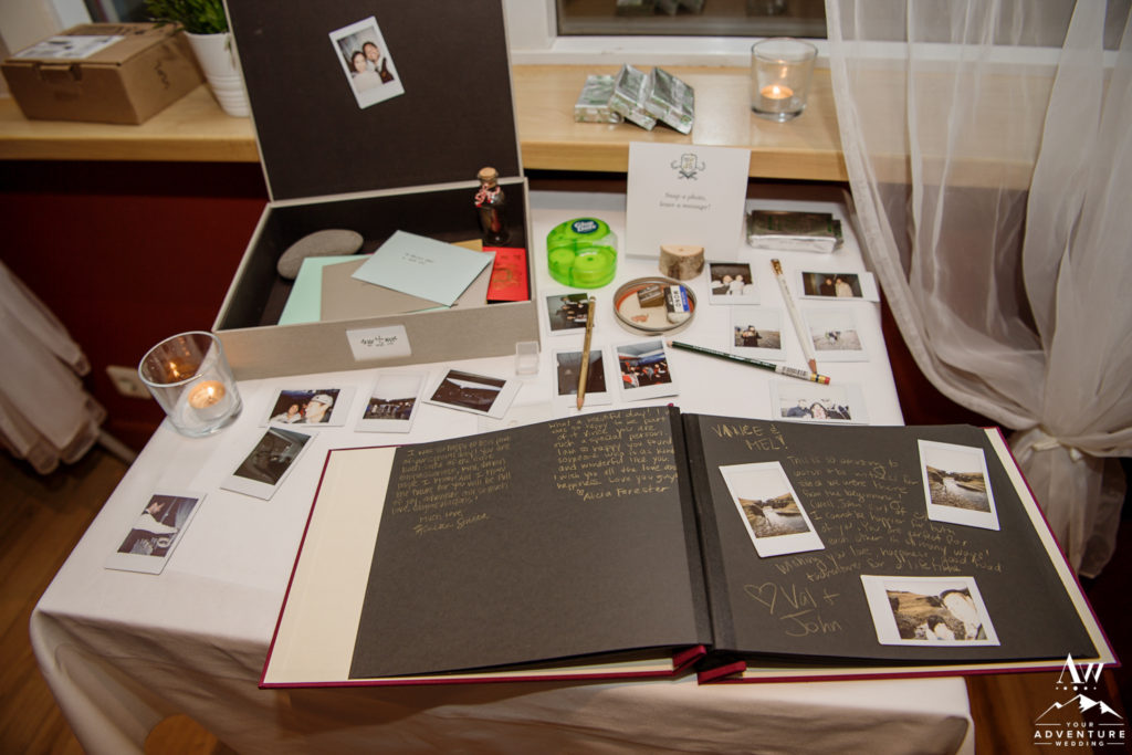 Guetsbook Table Iceland Wedding
