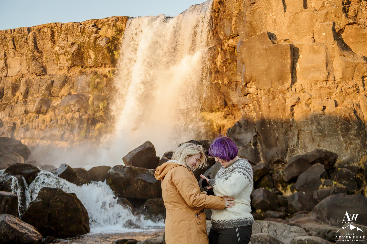 Gay Proposal in Iceland inside Thingvellir National Park