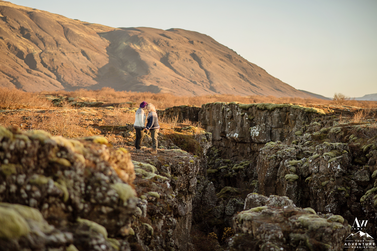 Iceland Proposal Photos inside of Thingvellir National Park