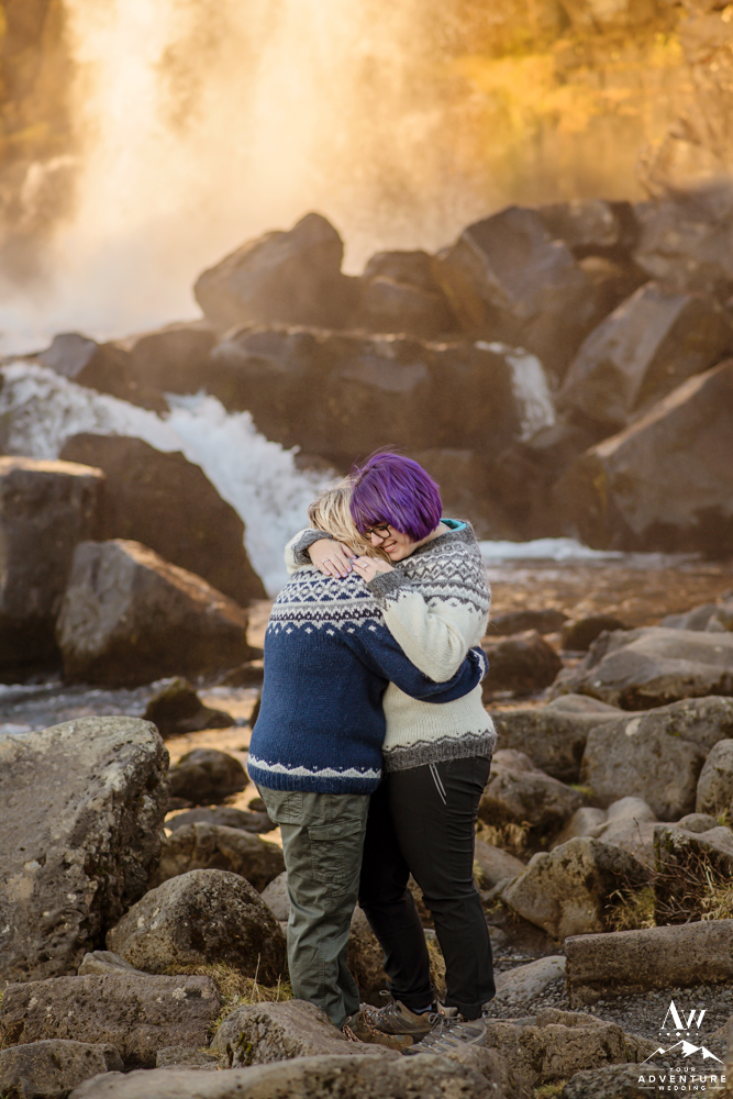 Moments after She Proposed in Iceland at Thingvellir National Park
