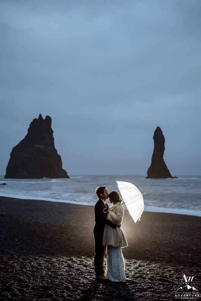 Iceland Black Sand Beach Wedding