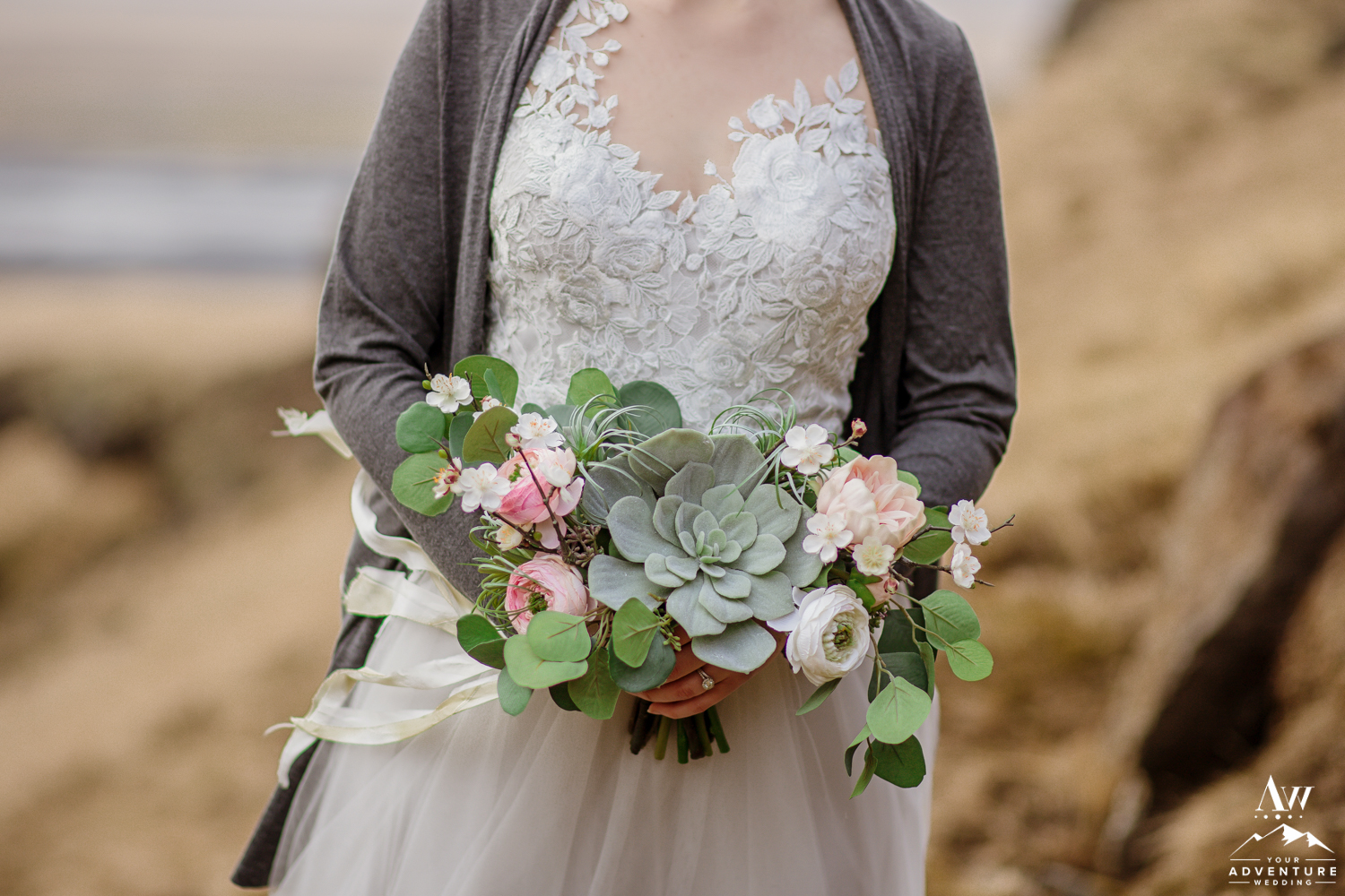 Iceland Wedding Bouquet made from Silk Flowers