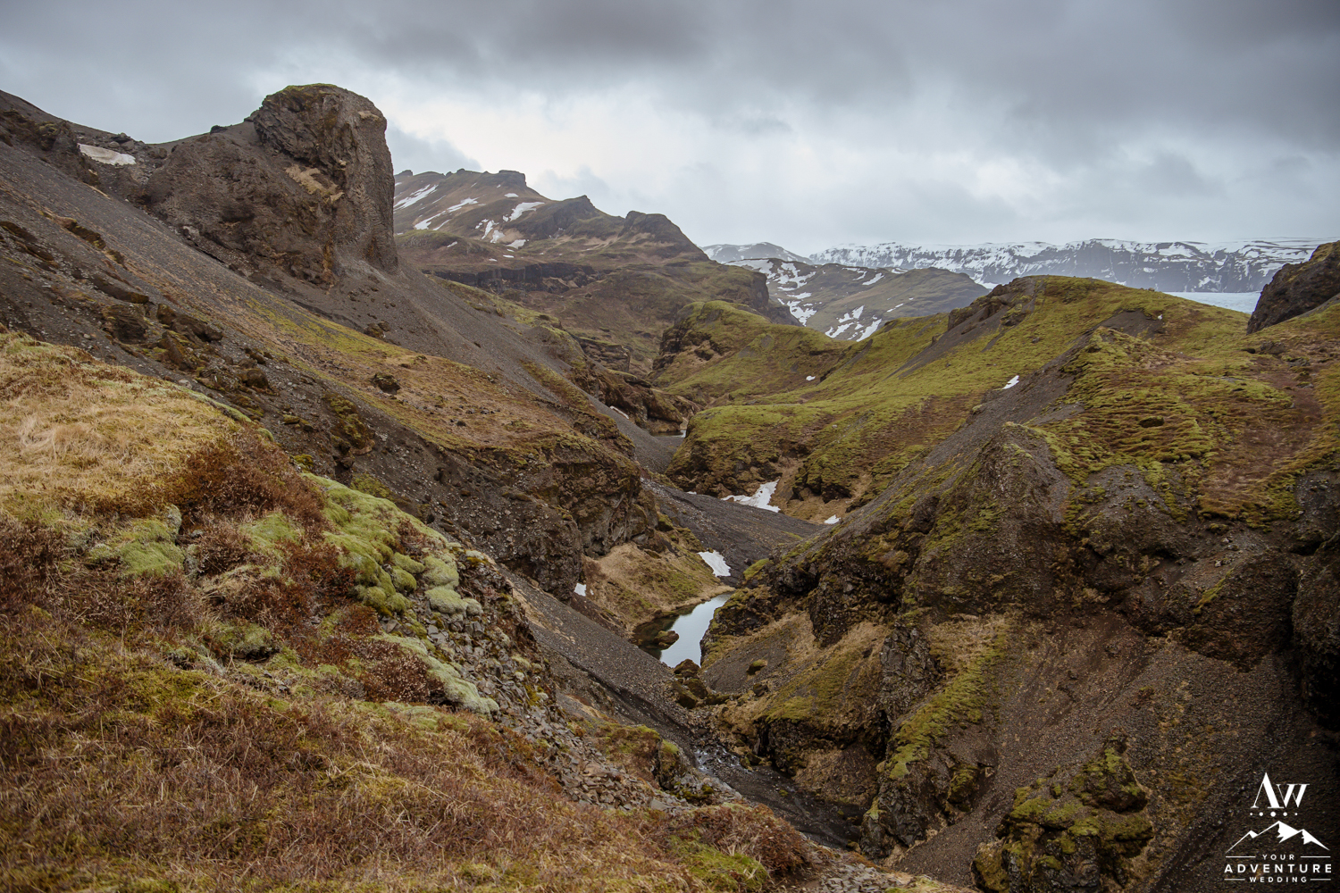 Landscape view of Iceland Elopement Location