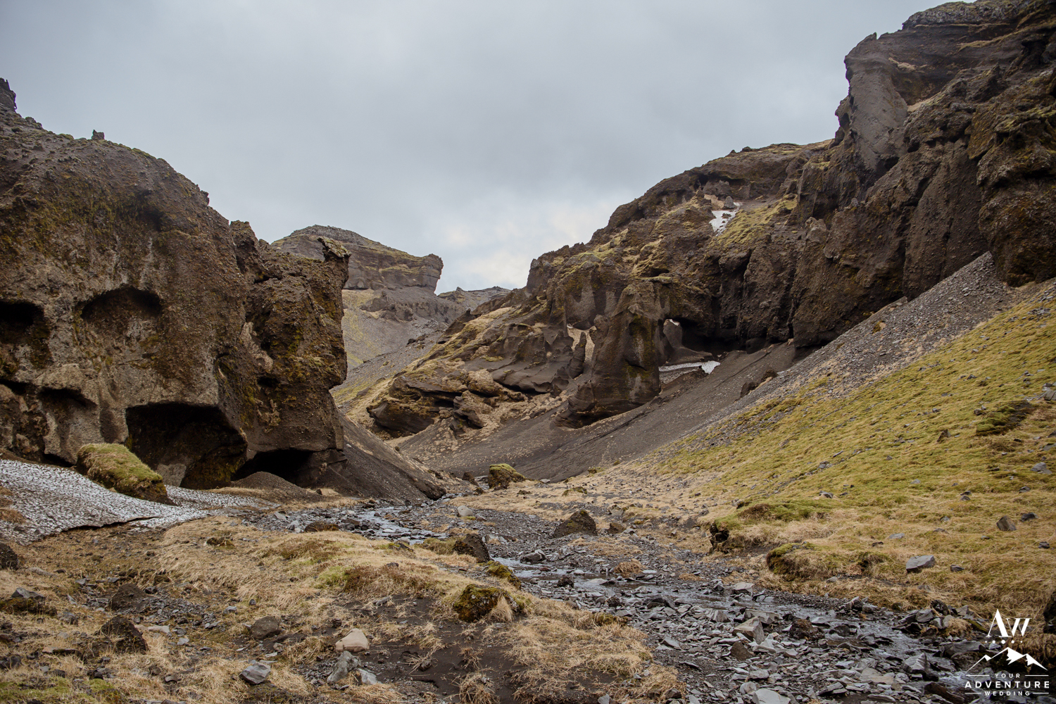 Iceland Private Canyon with River running through