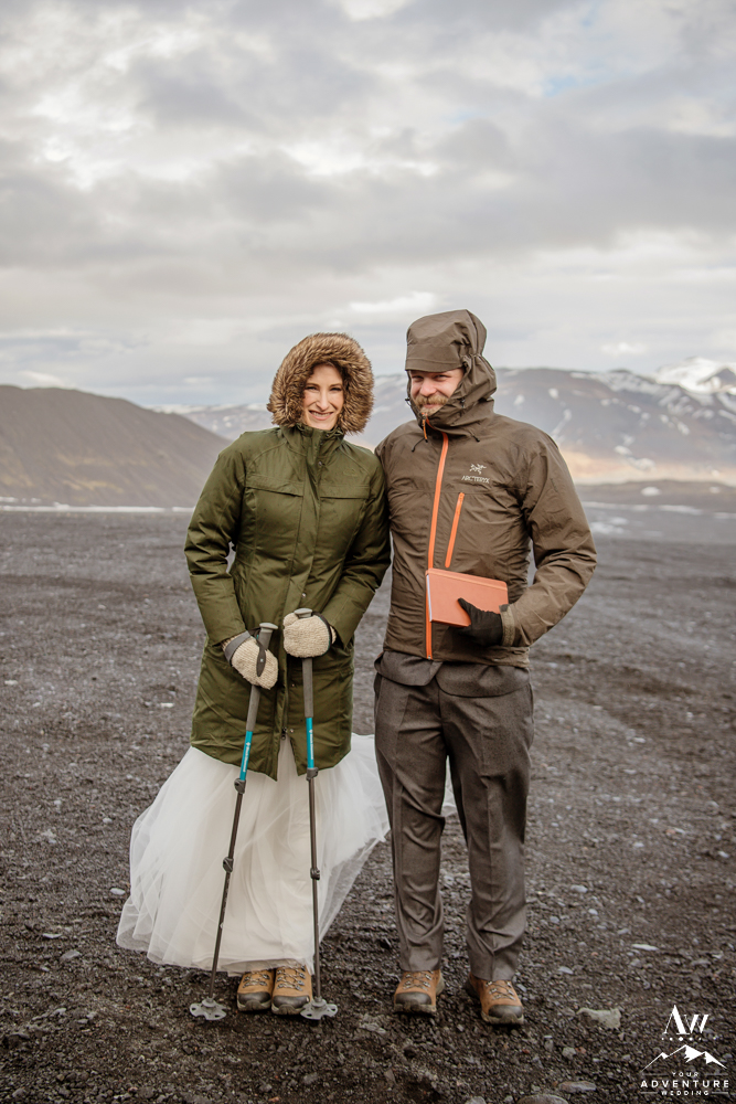 Adventurous Hiking Elopement in Thorsmork Iceland