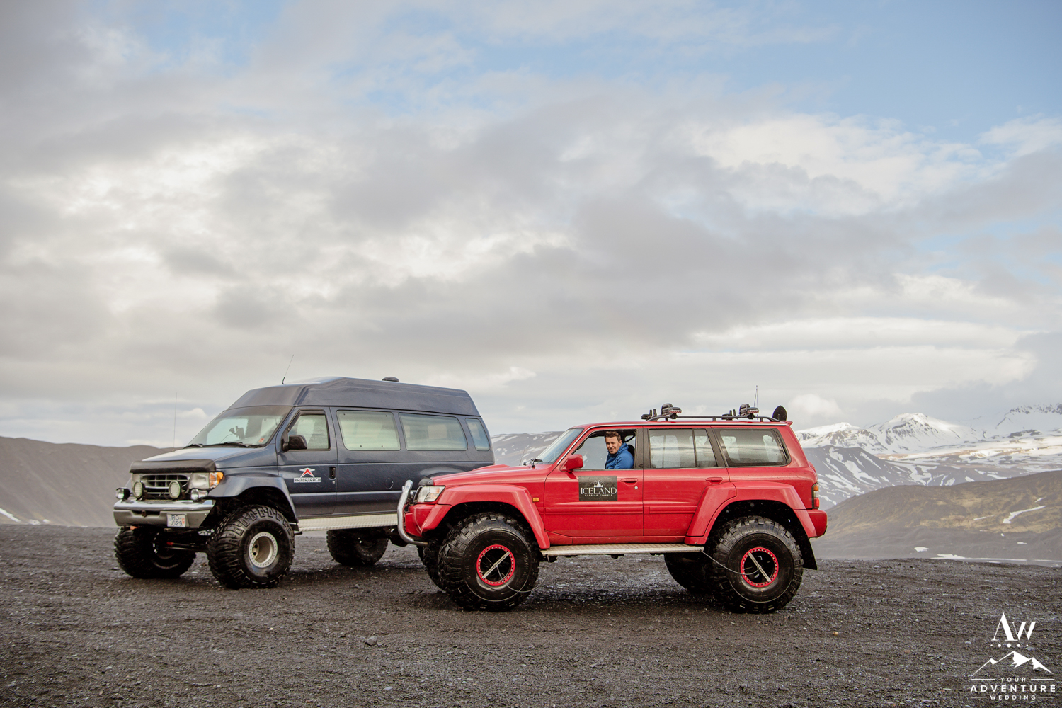 Adventurous Hiking Elopement via Super Jeeps in Iceland