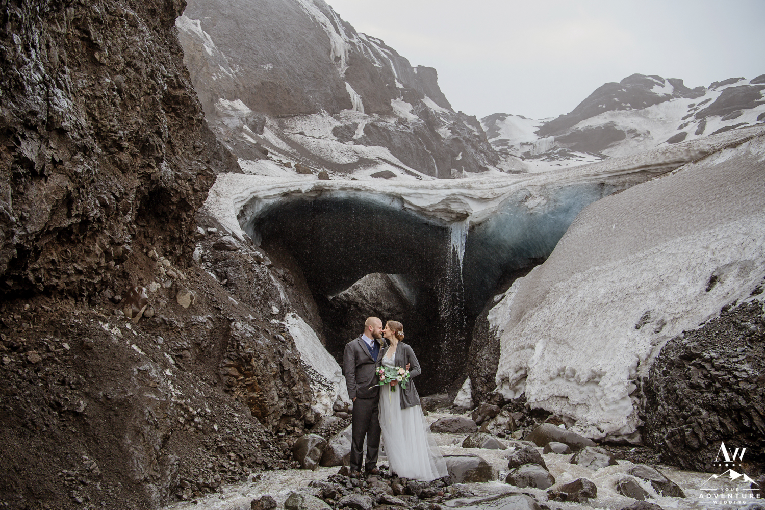 Iceland Ice Cave Wedding Photos