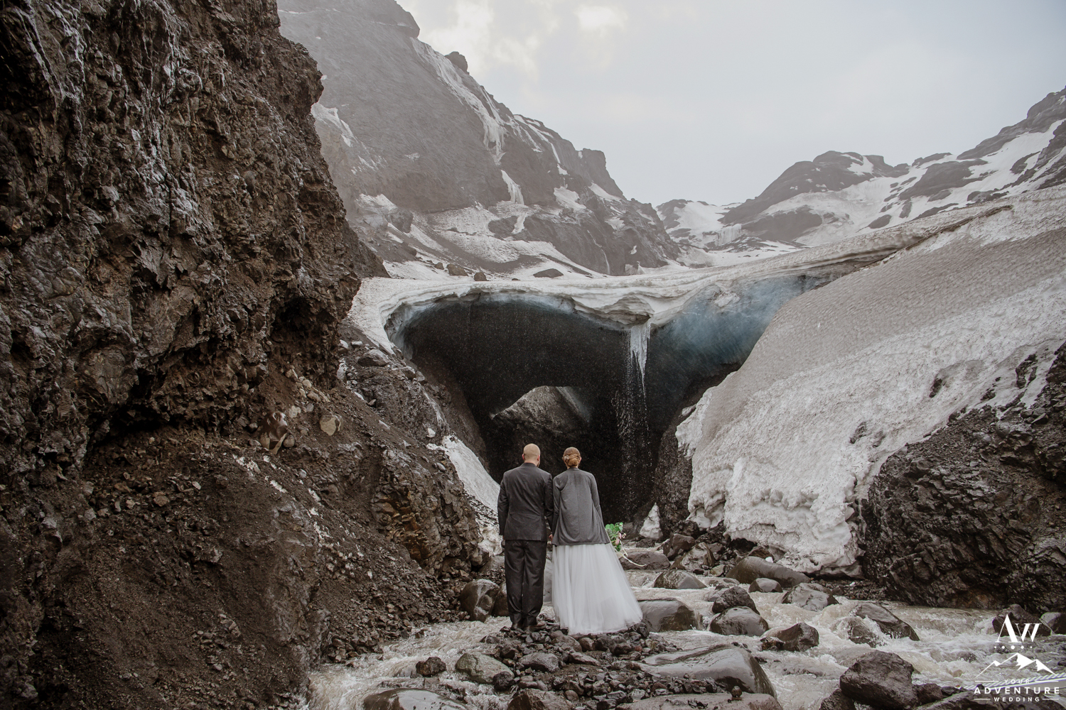 Thorsmork Ice Cave Wedding Photos
