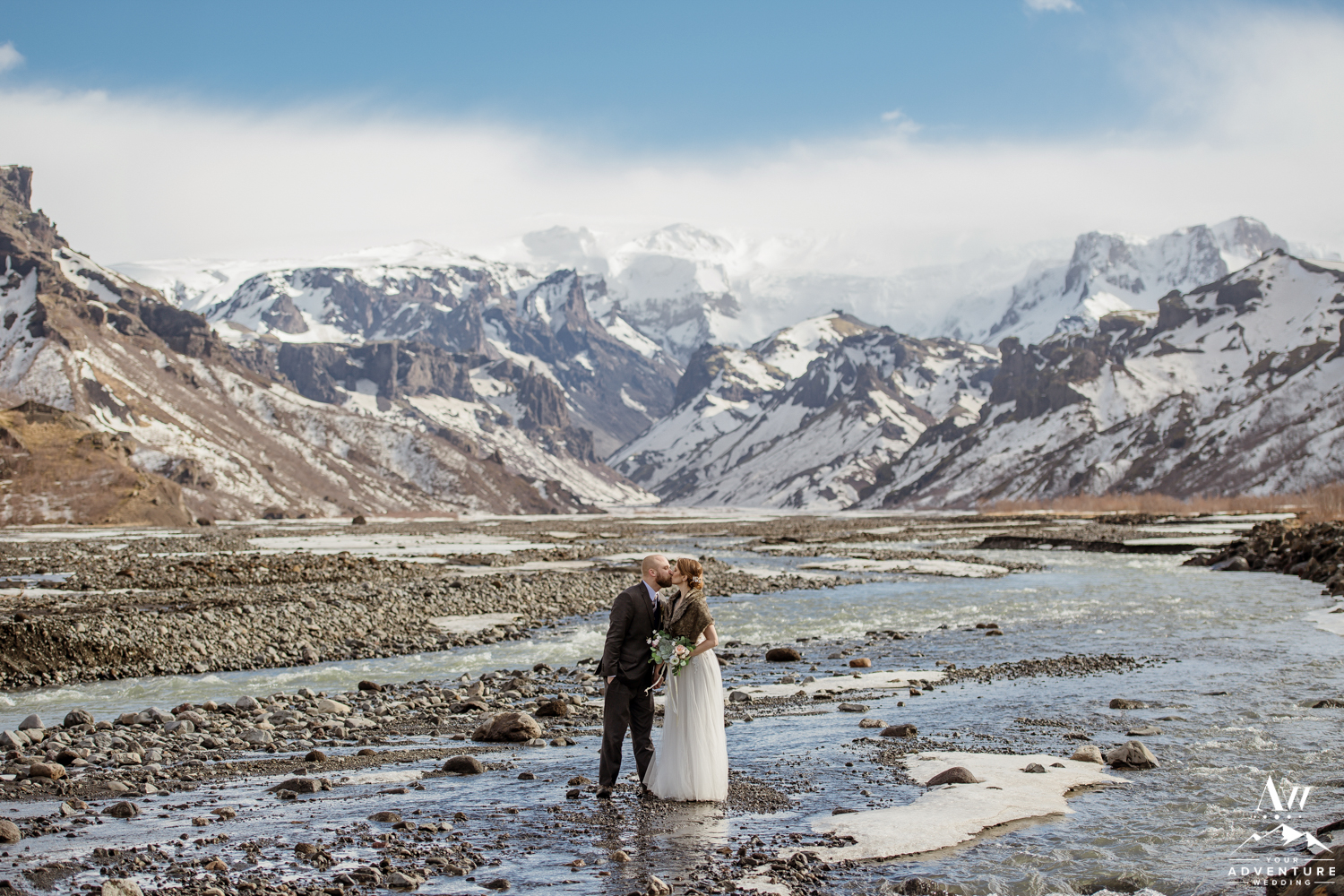 Adventurous Couple during Iceland Elopement in Thorsmork