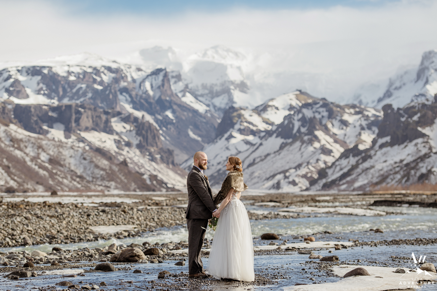 Iceland Elopement Couple in Thorsmork
