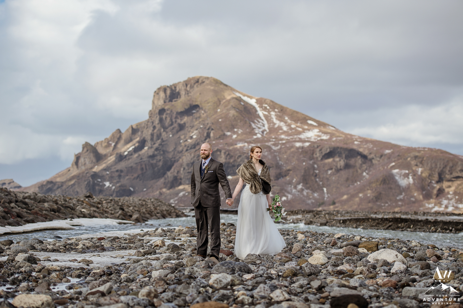 Iceland Hiking Wedding Photos in Thorsmork