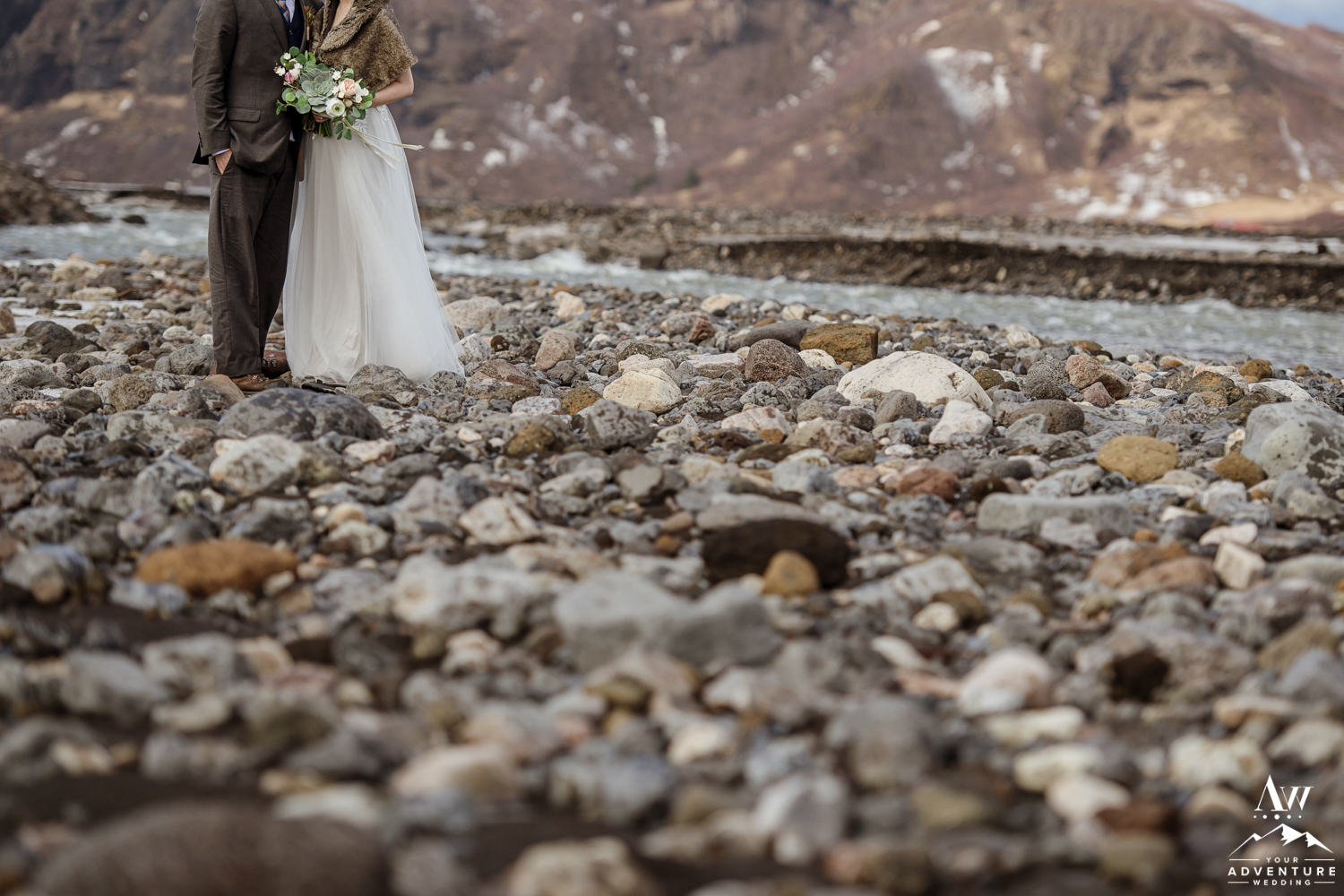 Iceland Elopement Details during adventure wedding