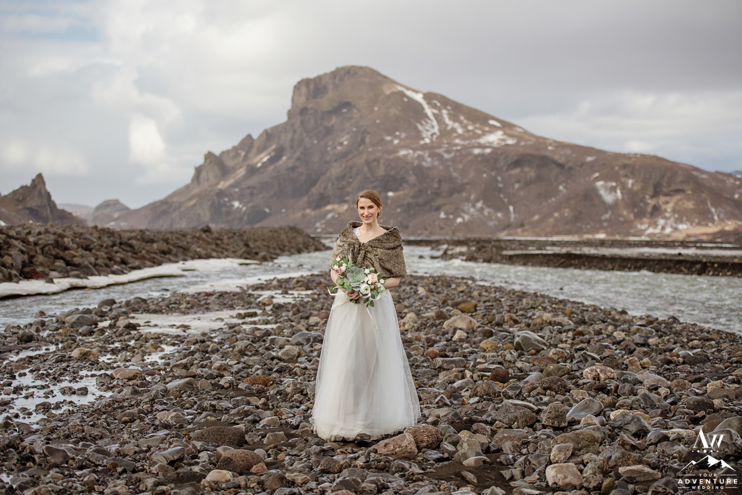 Bride during Iceland Wedding Day in Thorsmork