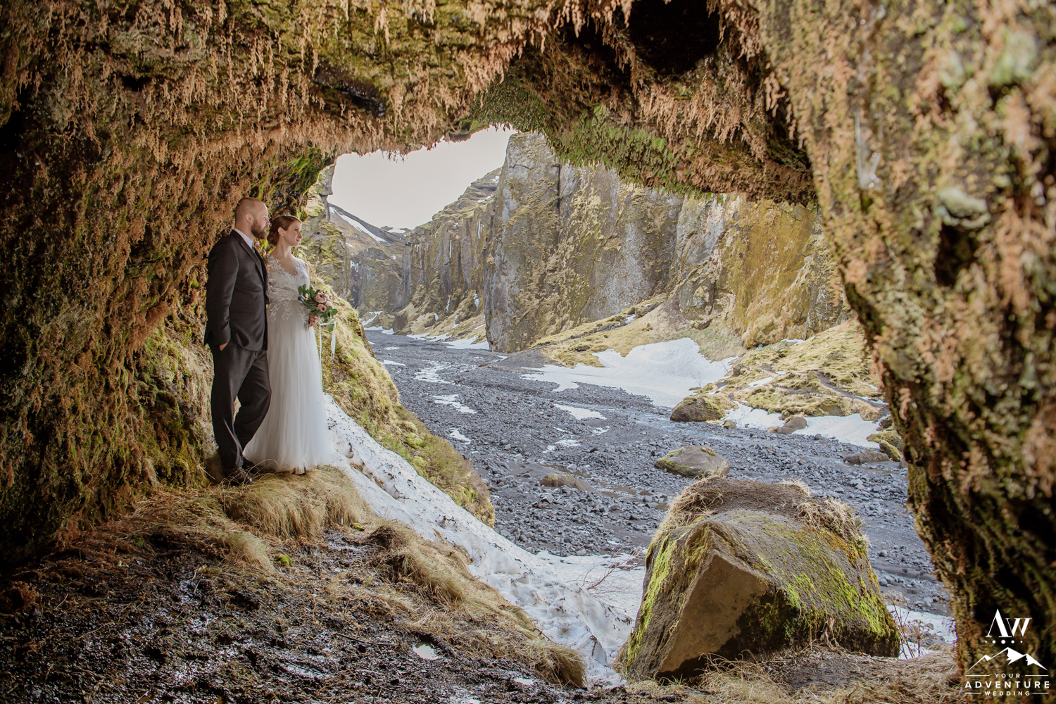 Iceland Adventure Wedding in a Cave