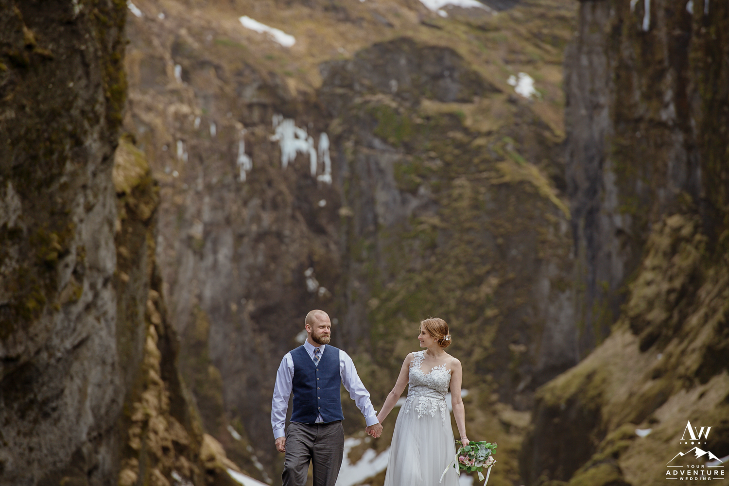 Couple Laughing during Iceland Elopement Day