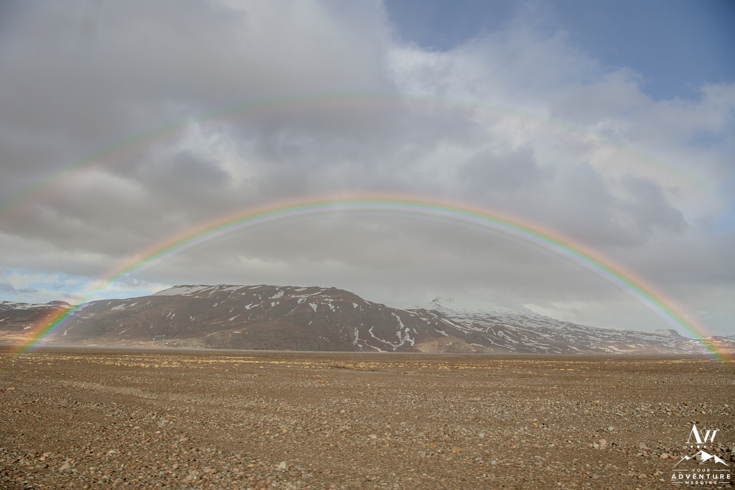 Iceland Rainbow over Thorsmork Valley in Iceland