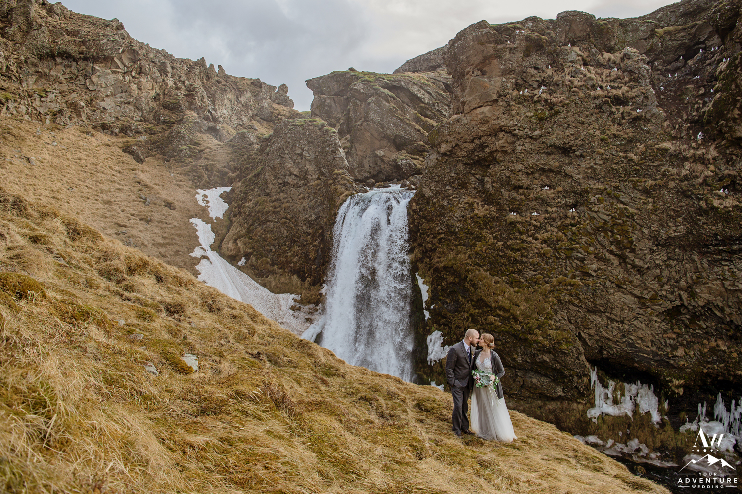 Highland Waterfall wedding photos of Mollie and Andy