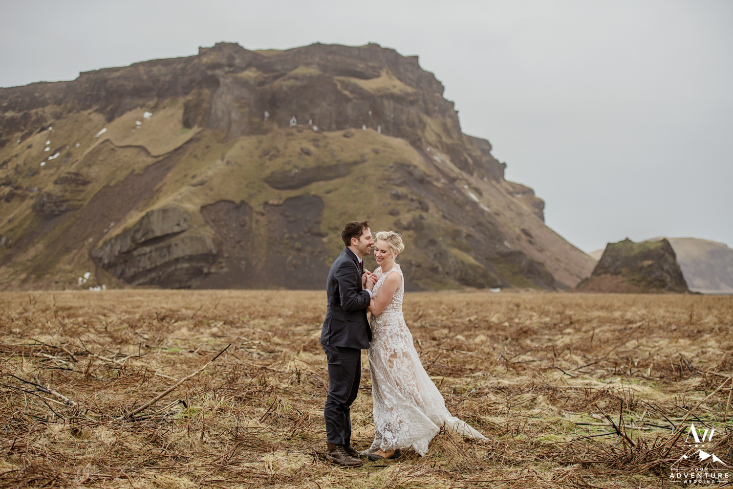 Forehead kisses during Iceland Elopement