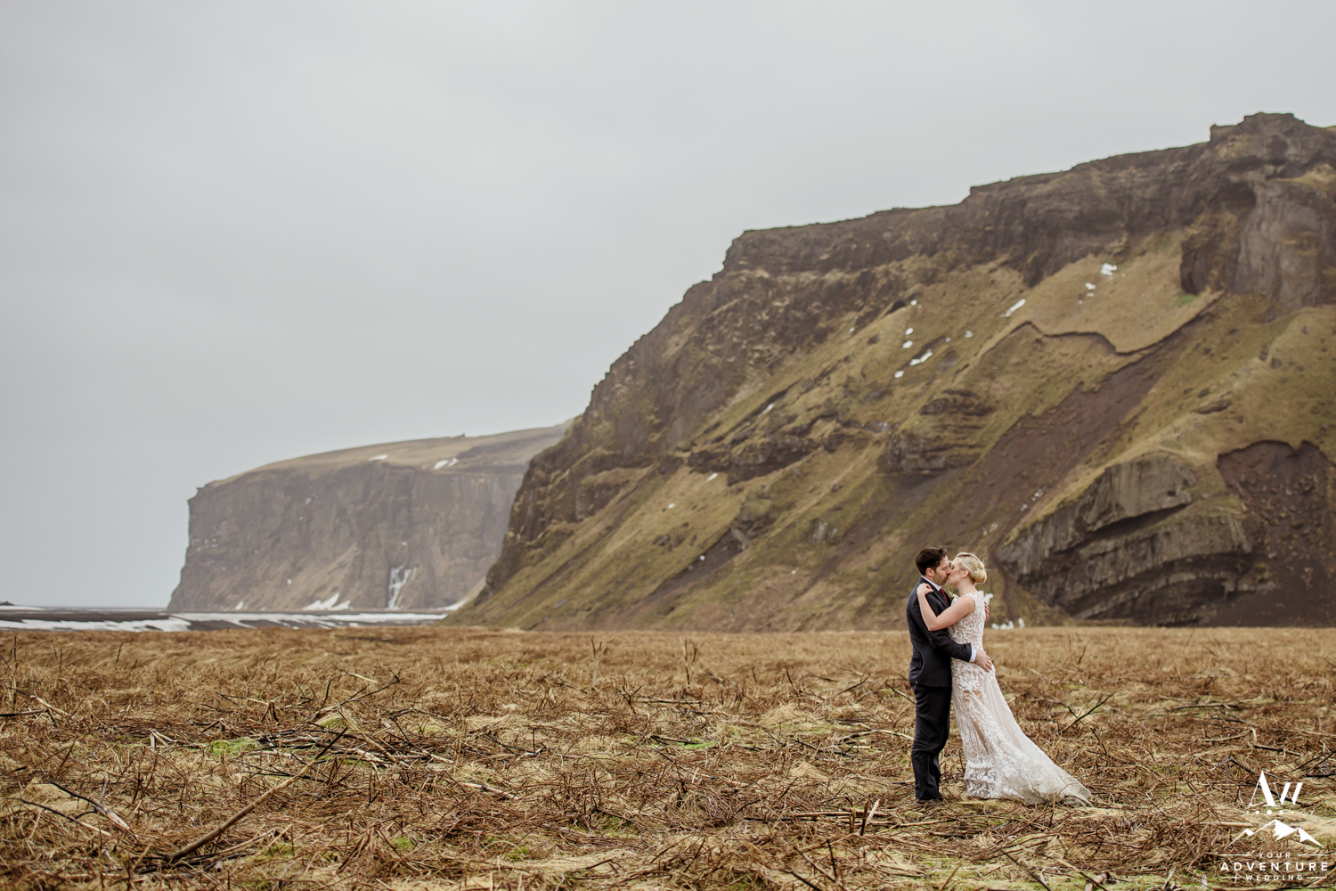 Romantic Iceland Wedding Mountain Photos