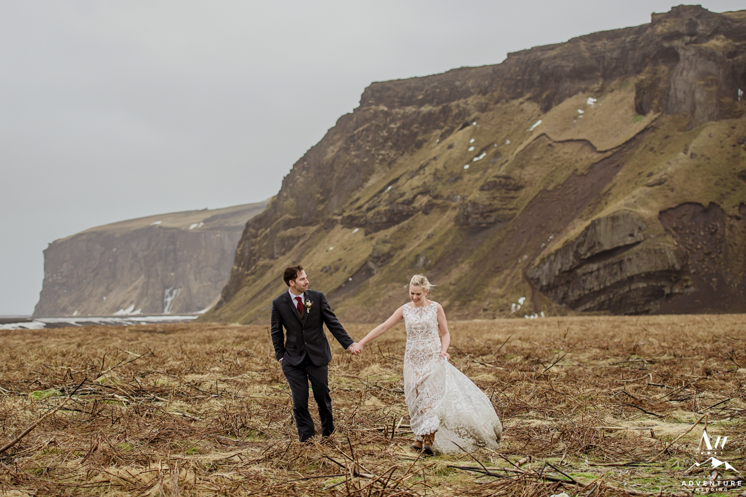 Iceland Adventurous Elopement Mountain Wedding
