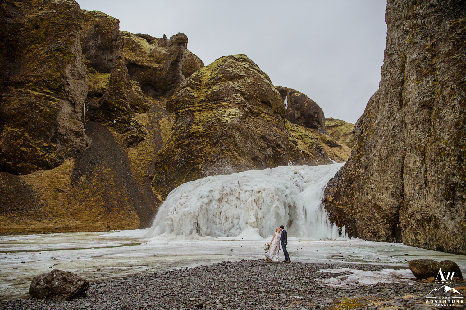 Frozen Waterfall Wedding Photos