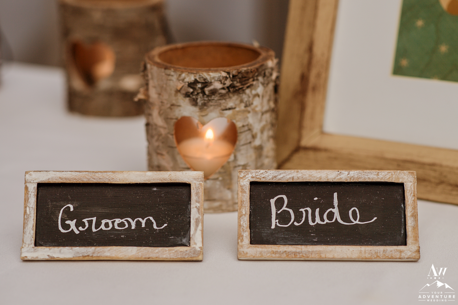 Iceland Wedding Reception Chalkboard Place Cards