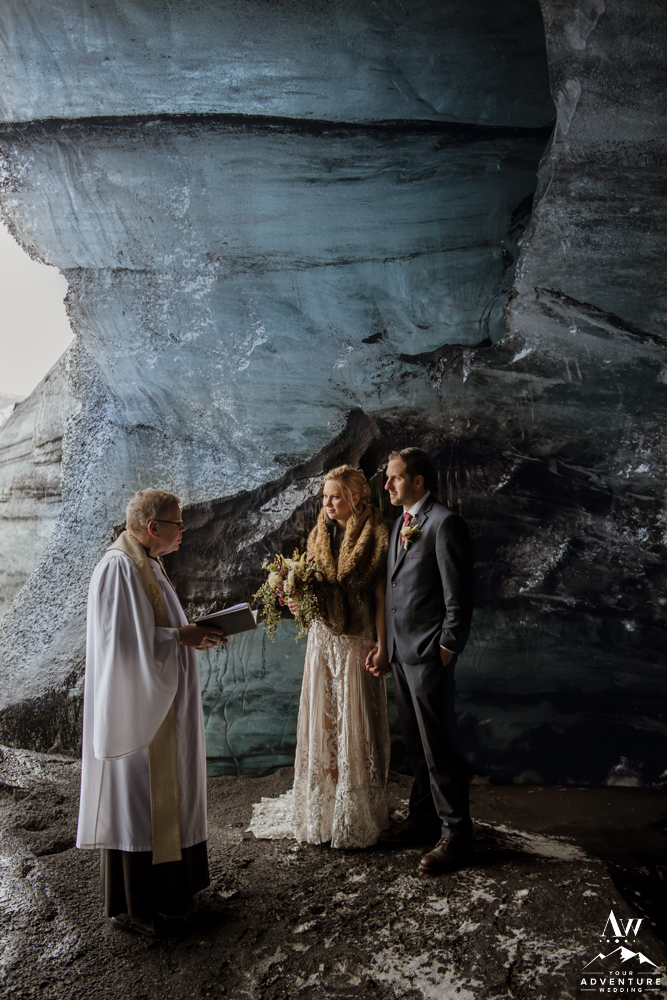 Wedding Ceremony in an Ice Cave in Iceland